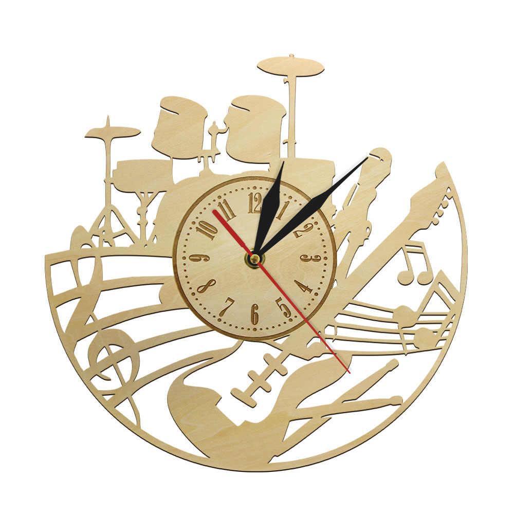 Music Band Wall Clock Free CDR Vectors Art