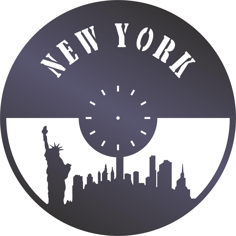 New York Wall Clock Free CDR Vectors Art