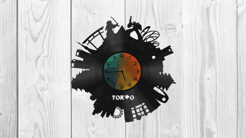 Tokyo Wall Clock Free CDR Vectors Art