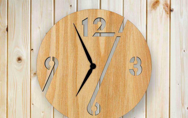 Wooden Simple Clock Free CDR Vectors Art
