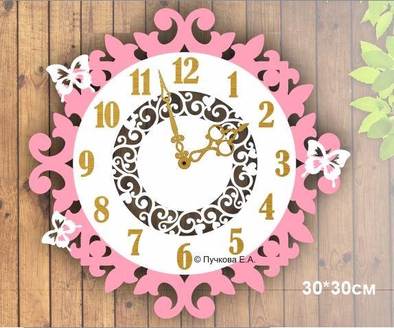 Decorative Wall Clock Butterflies Free CDR Vectors Art