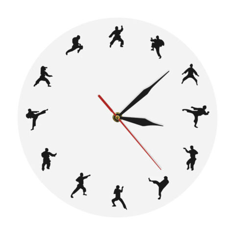 Wall Clock Martial Arts Free CDR Vectors Art