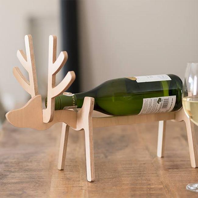 Laser Cut Reindeer Wine Holder 10mm Free PDF File