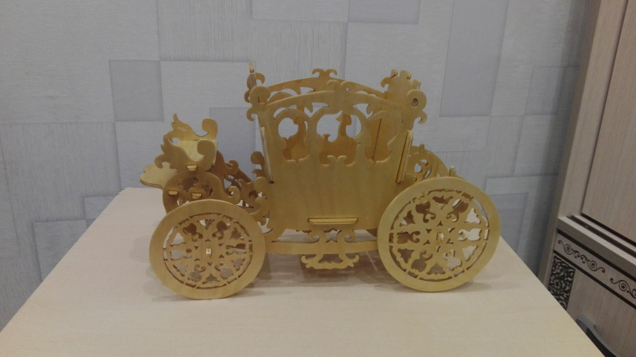 Carriage Planter Candy Holder Free PDF File