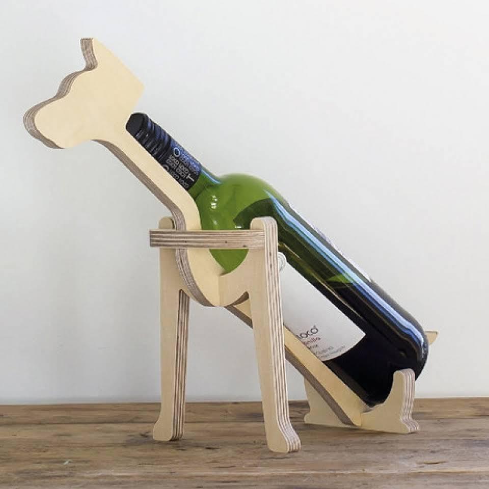 Laser Cut Dog Wine Bottle Holder 10mm Free PDF File