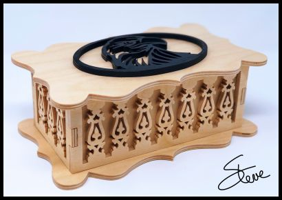 Laser Cut Decorative Wooden Box Cnc Template Free PDF File