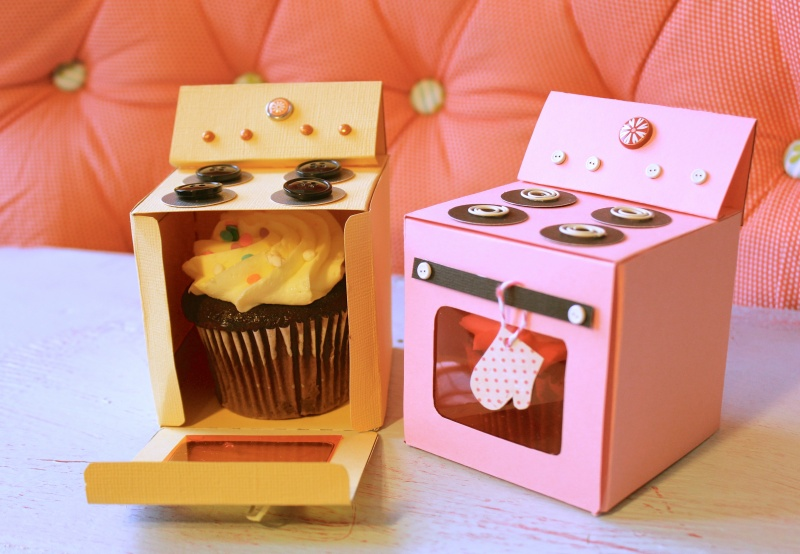 Oven Cupcake Box Template Free PDF File