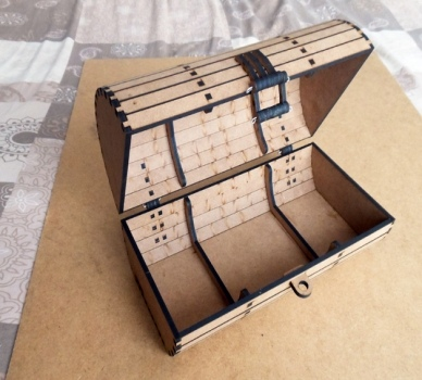 Wooden Box Chest Trunk Cnc Laser Cut Plywood Free PDF File