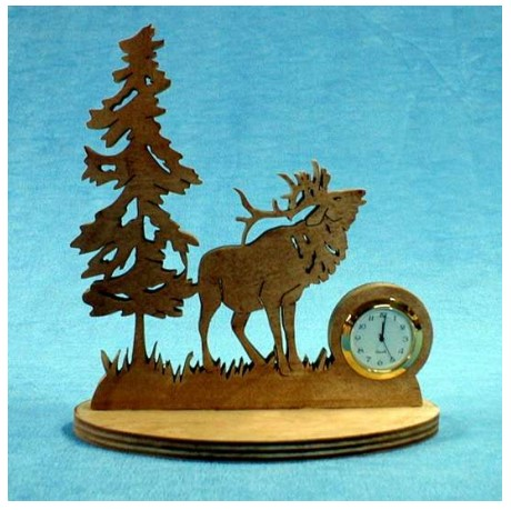Elk Table Decoration With Clock  Deer Free PDF File