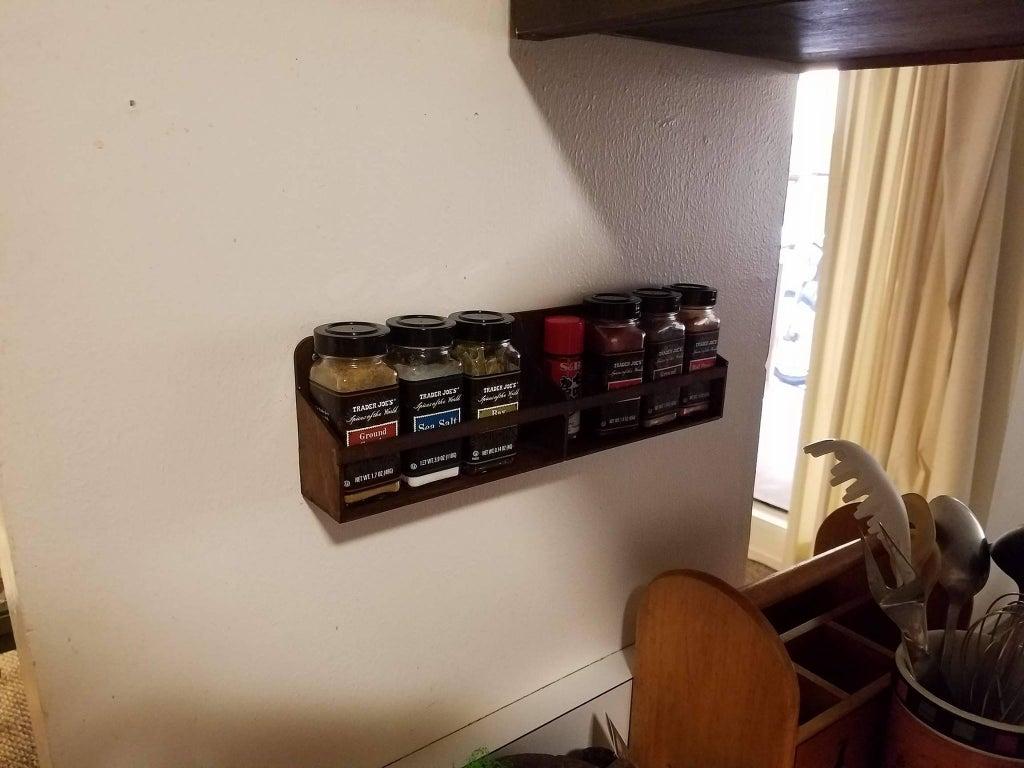 Laser Cut Wall Mount Spice Rack Floating Shelf For Kitchen Free PDF File