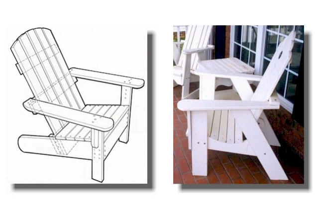 Laser Cut Adirondack Chairs Cnc Template Free PDF File
