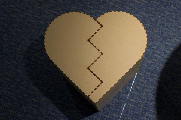 Laser Cut Heart Shape High Chair Free PDF File