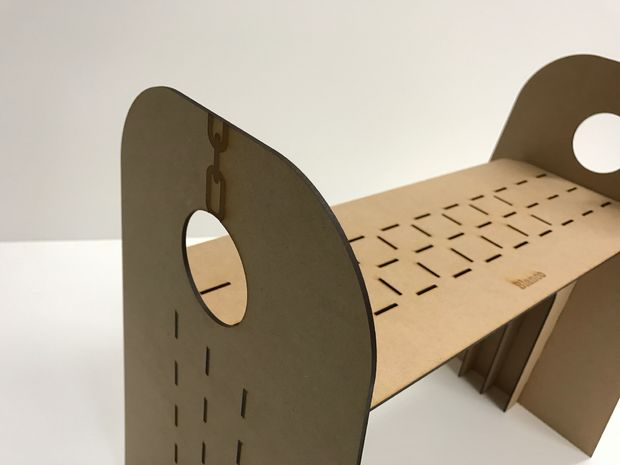 Laser Cut Simple High Chair Free PDF File