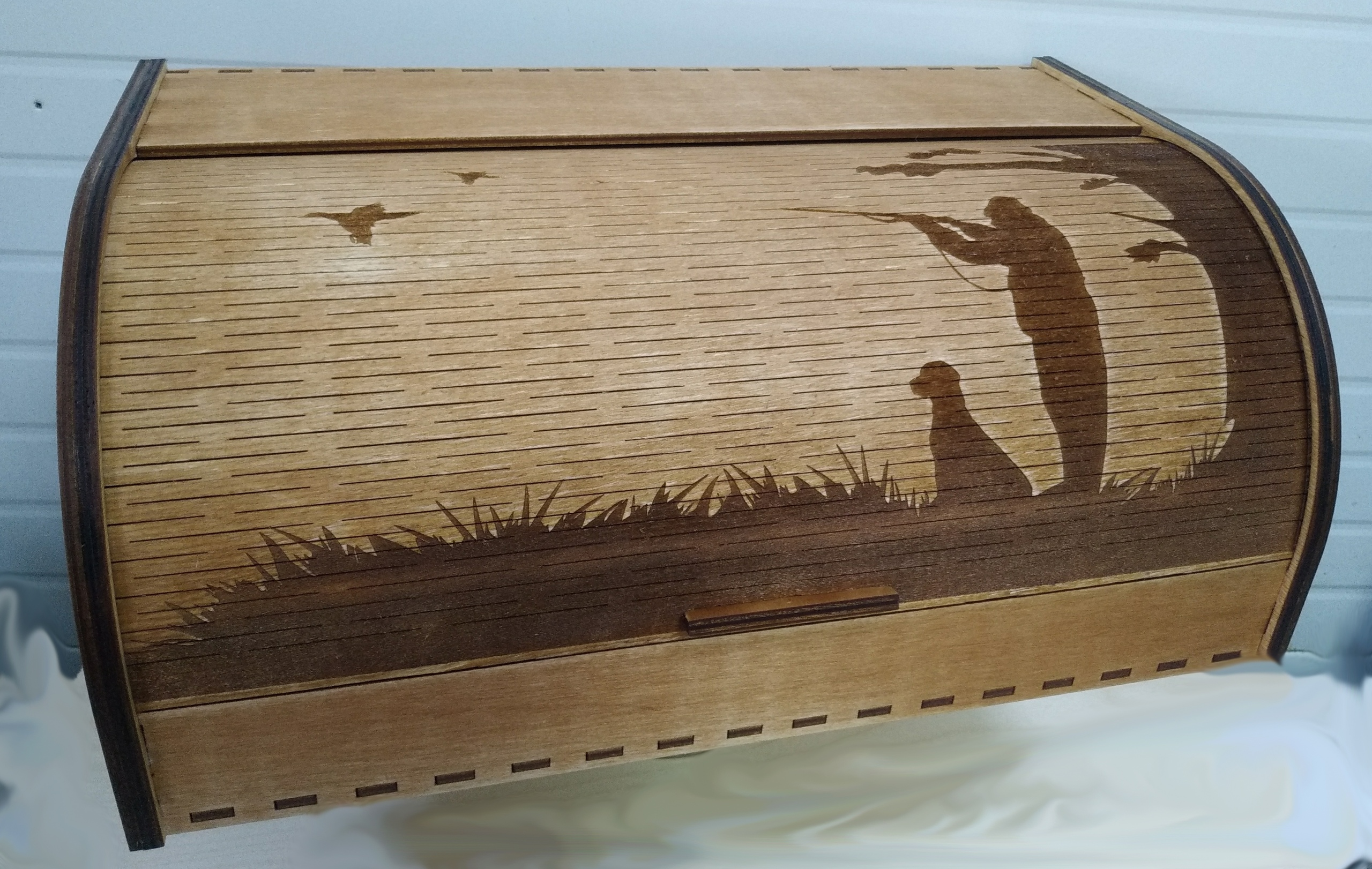 Bread Box As A Gift For A Lover Of Duck Hunting Breadbasket Free CDR Vectors Art