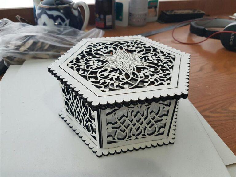 Hexagon Openwork Box 3mm Free CDR Vectors Art