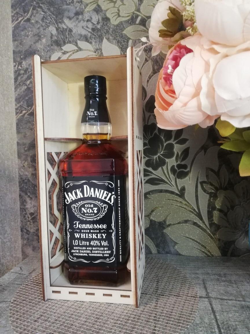 Laser cut Jack Daniel 3mm Wine Gift Box Free CDR Vectors Art