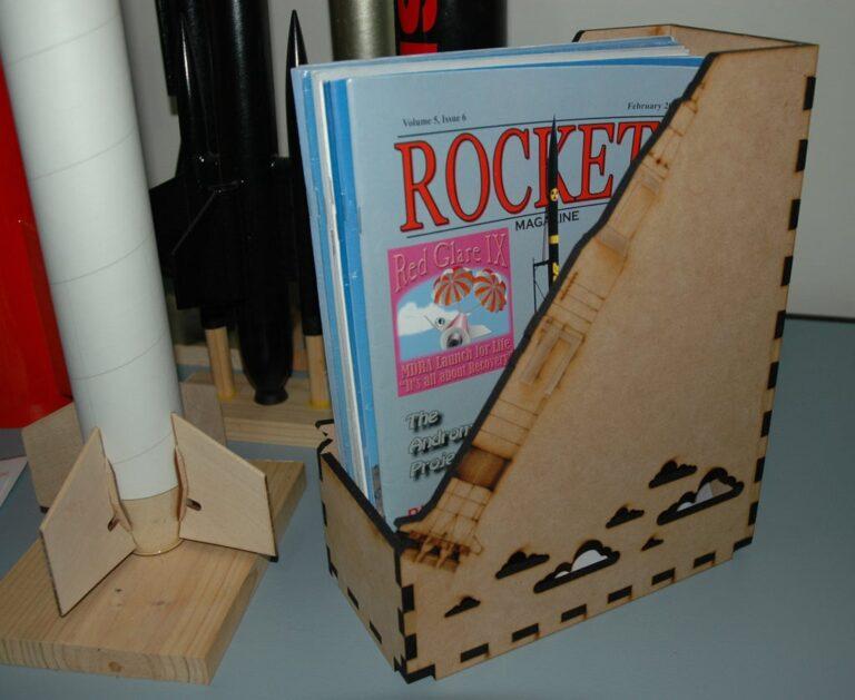 Magazine Storage Box 6mm Mdf Free CDR Vectors Art