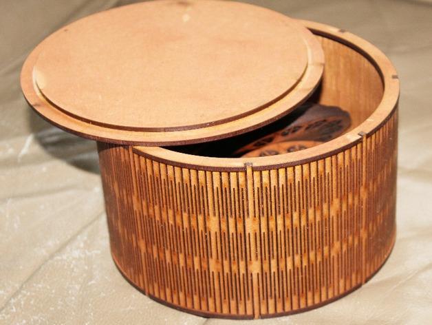 Round Box 150mm Dia Free CDR Vectors Art