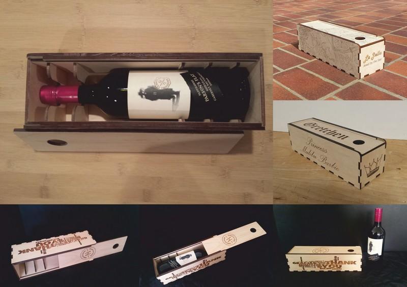 Wine Bottle Holder Box Gift Box Free CDR Vectors Art