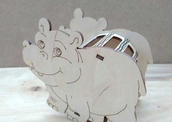 Hippo Pencil Holders Desk Organizer Free CDR Vectors Art
