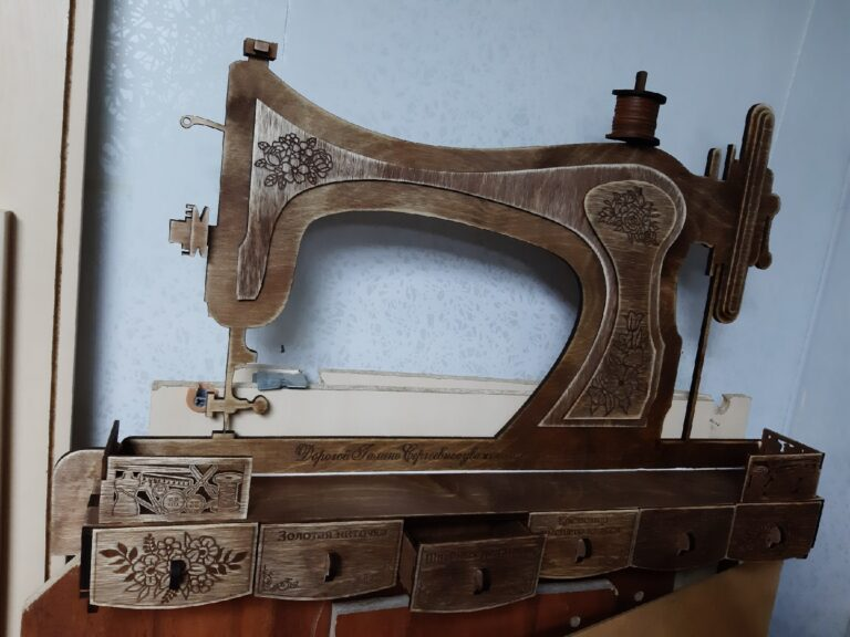Sewing Machine Shelf Free CDR Vectors Art