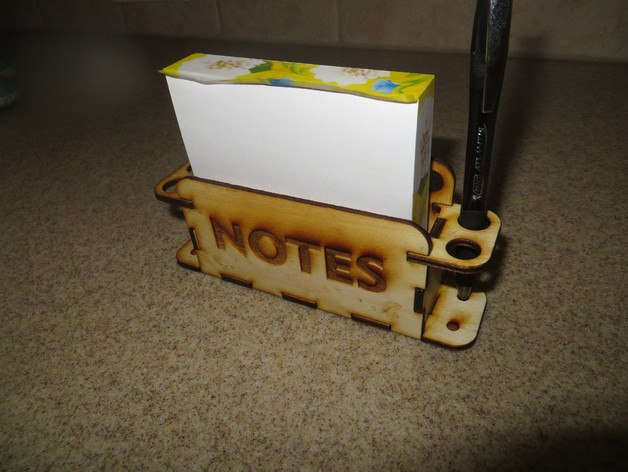Laser Cut Pen And Notes Holder Free PDF File