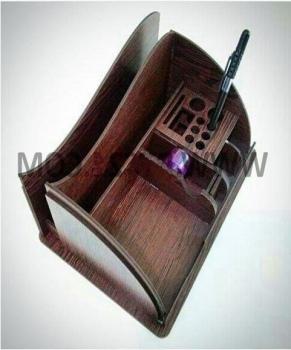 Laser Cut Wooden Desk Organizer Free PDF File