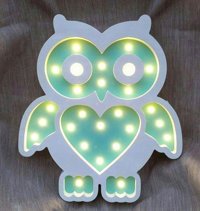Laser Cut Owl Lamp Unique Kids Night Light Free CDR Vectors Art
