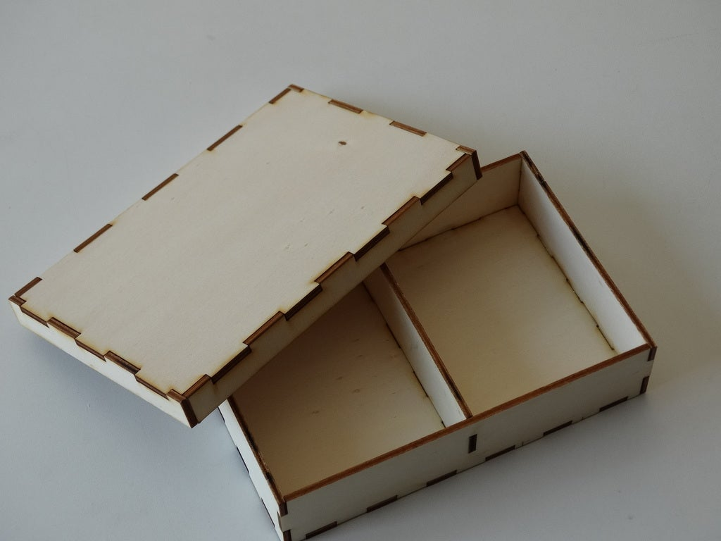 Laser Cut Box With Lid 3mm Free DXF File