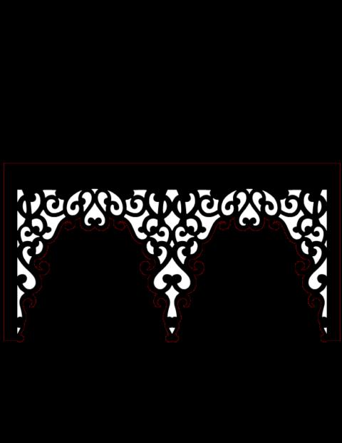 Laser Cut Floral Border Design 1 Free DXF File