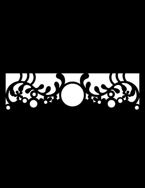 Laser Cut Floral Border Design 2 Free DXF File