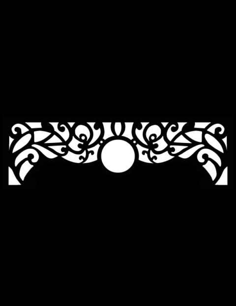 Laser Cut Floral Border Design 8 Free DXF File