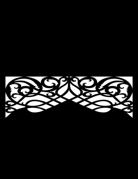 Laser Cut Floral Border Design 9 Free DXF File