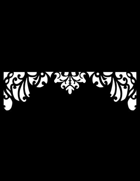 Laser Cut Floral Border Design 10 Free DXF File