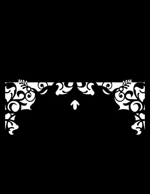 Laser Cut Floral Border Design 13 Free DXF File