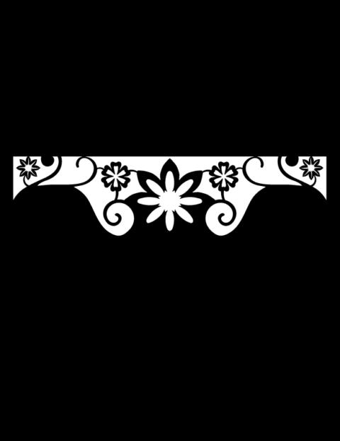 Laser Cut Floral Border Design 15 Free DXF File