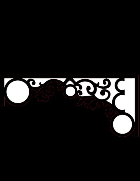 Laser Cut Floral Border Design 16 Free DXF File