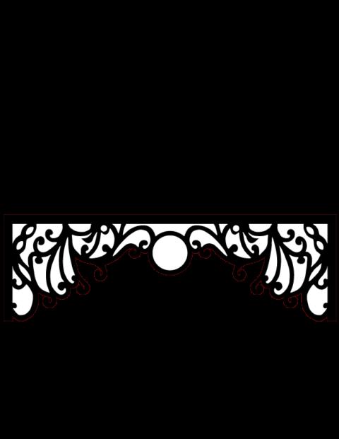 Laser Cut Floral Border Design 17 Free DXF File