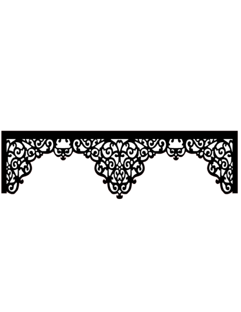Laser Cut Floral Border Design 19 Free DXF File