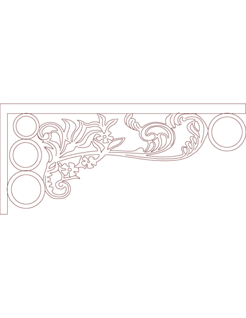 Laser Cut Floral Border Design 20 Free DXF File