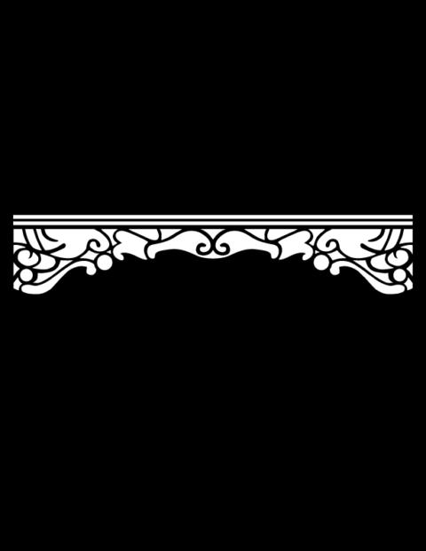 Laser Cut Floral Border Design 22 Free DXF File