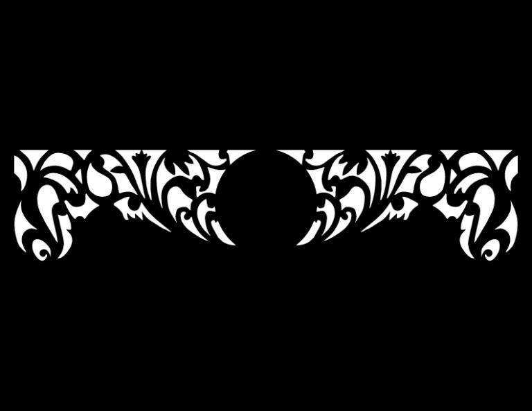 Laser Cut Floral Border Design 29 Free DXF File