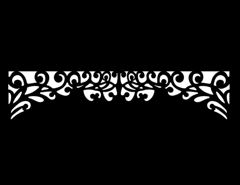 Laser Cut Floral Border Design 33 Free DXF File