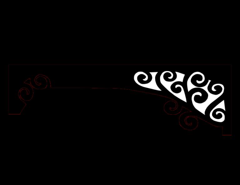 Laser Cut Floral Border Design 37 Free DXF File