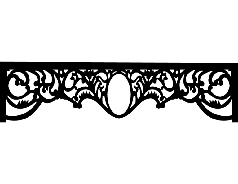 Laser Cut Floral Border Design 38 Free DXF File