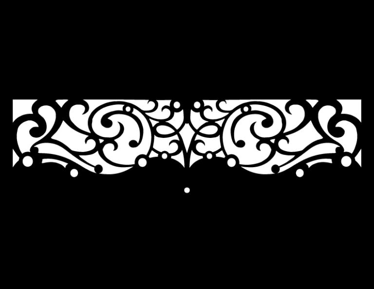 Laser Cut Floral Border Design 39 Free DXF File