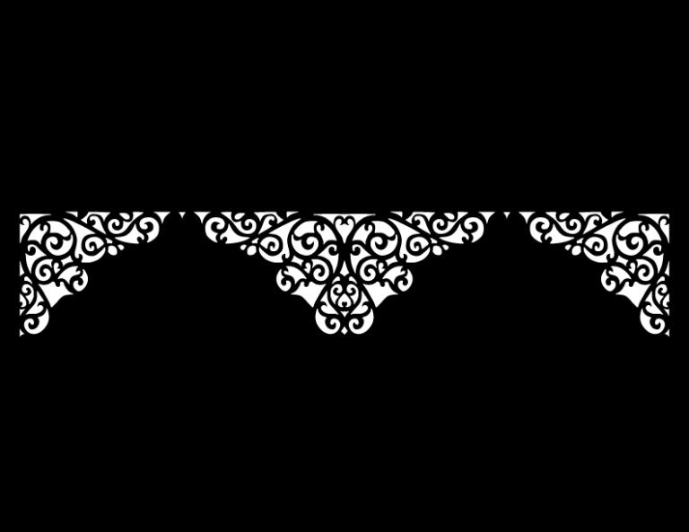 Laser Cut Floral Border Design 40 Free DXF File