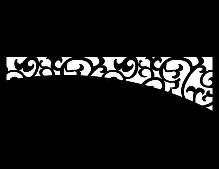 Laser Cut Floral Border Design 41 Free DXF File