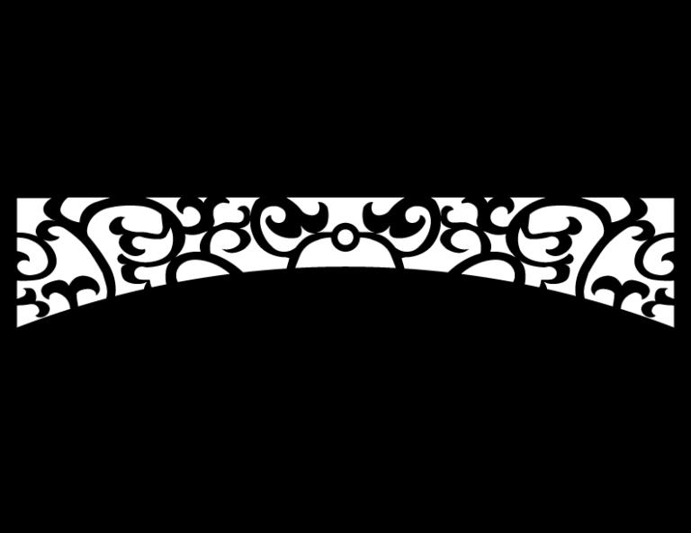 Laser Cut Floral Border Design 42 Free DXF File