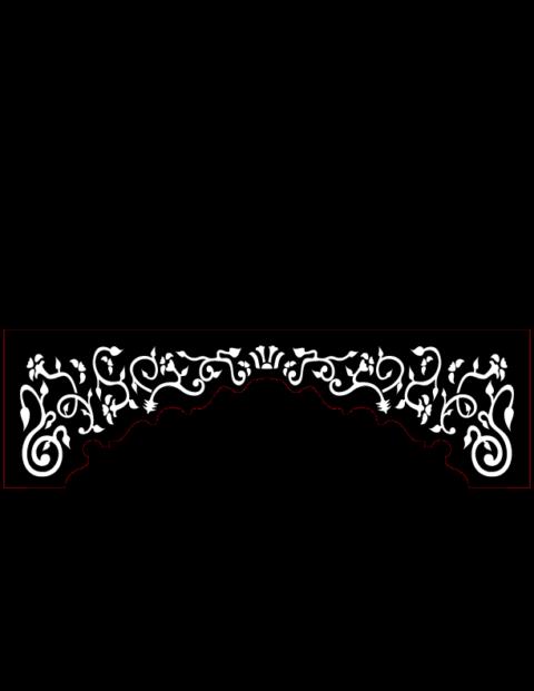 Laser Cut Floral Border Design 44 Free DXF File